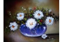 Flori in bol violet